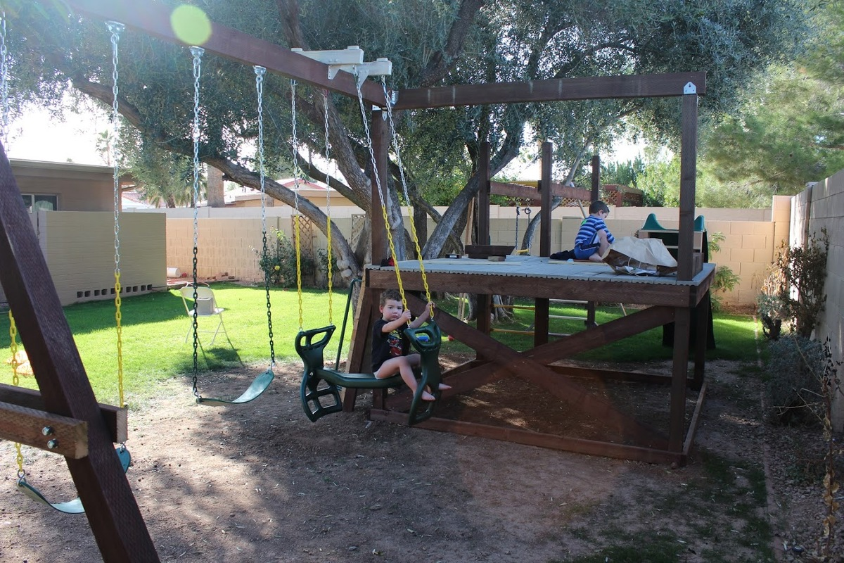 ana white play structure u0026 swing set diy projects
