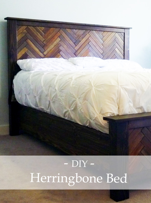 Ana White Herringbone Cassidy Queen Bed Diy Projects