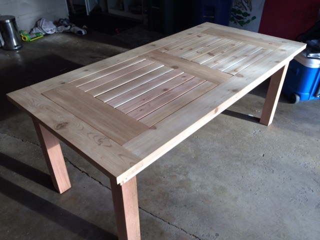 Ana White Cedar Patio Table W Hidden Coolers Diy Projects