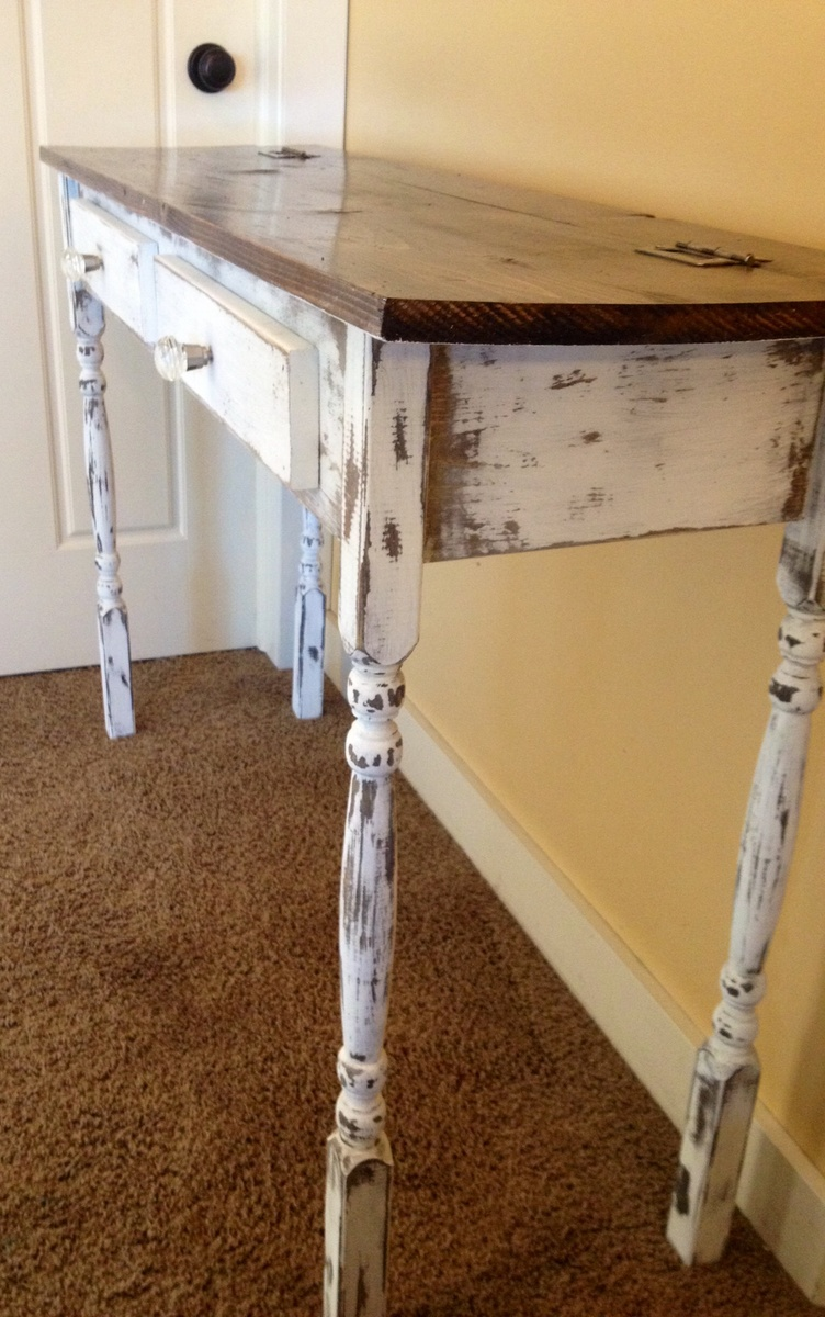 Ana white stair leg flip top console table diy projects additional photos geotapseo Image collections