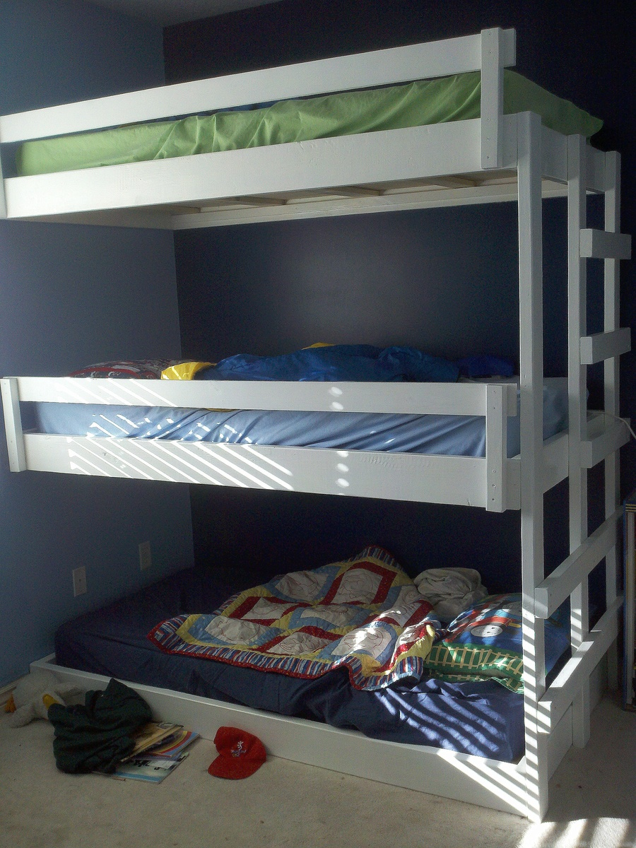 Easy Built In Triple Bunk Bed Plans