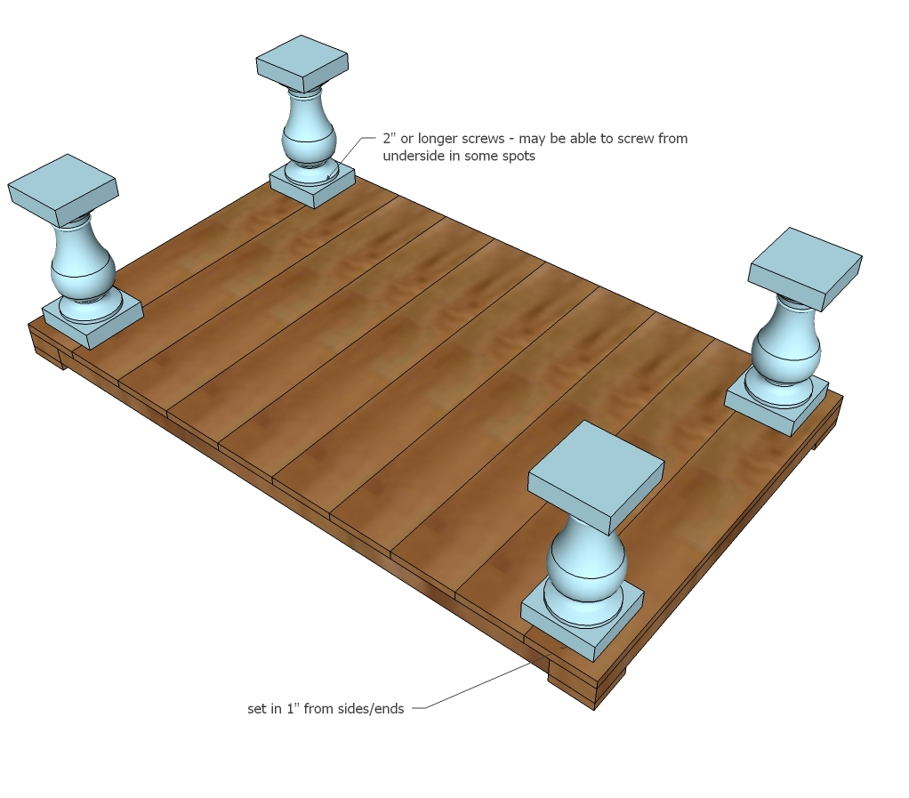 Ana white balustrade coffee table diy projects for Coffee table instructions