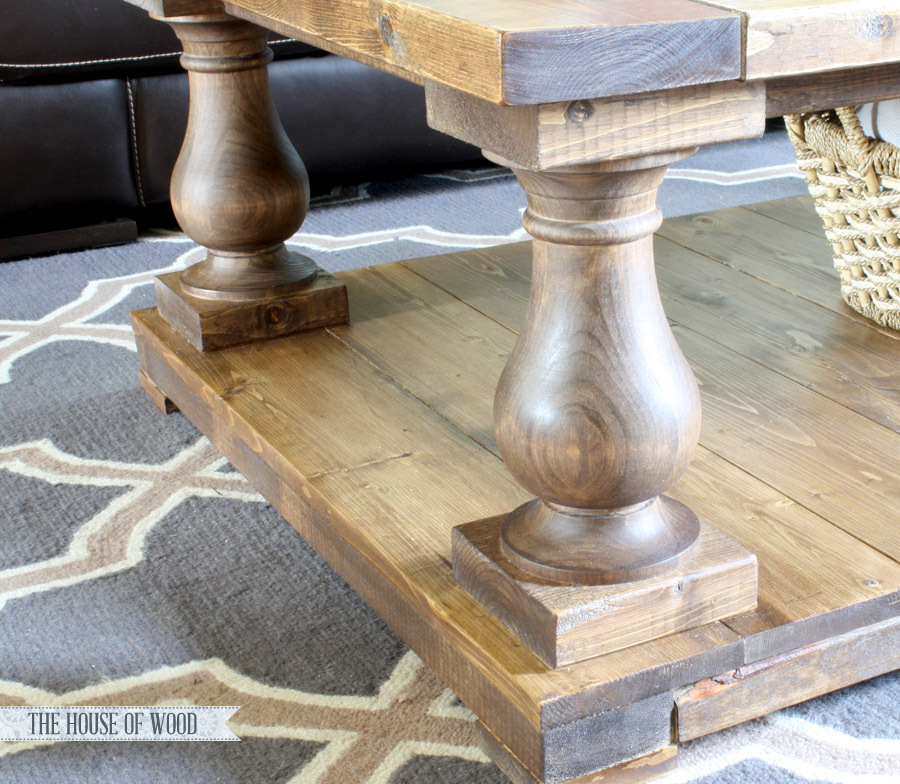 Ana white balustrade coffee table diy projects balustrade coffee table watchthetrailerfo