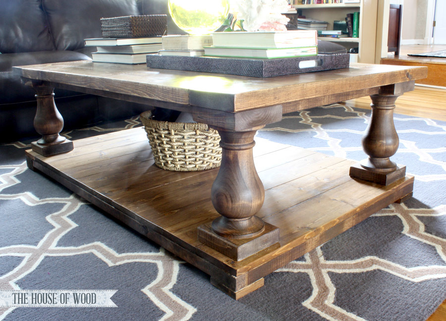 ana white | balustrade coffee table - diy projects Build Your Own Coffee Table Plans