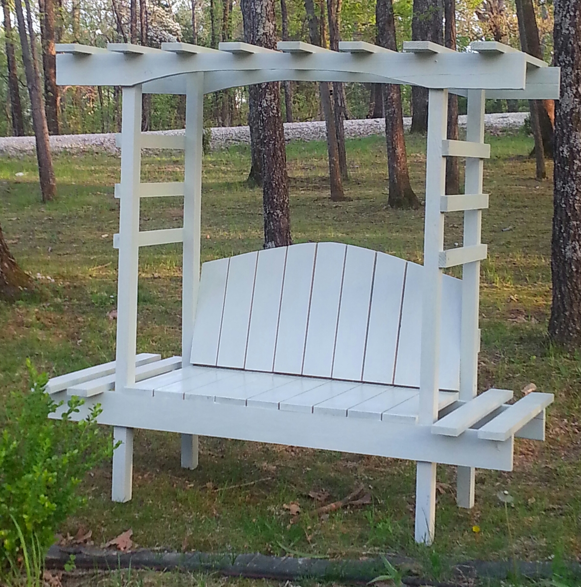 ana white childrens garden arbor bench diy projects
