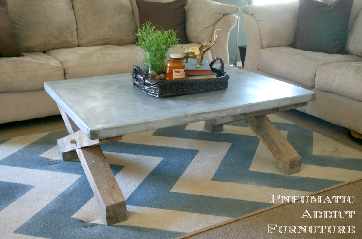 Ana White Pottery Barn Knock Off Zinc Coffee Table Diy Projects