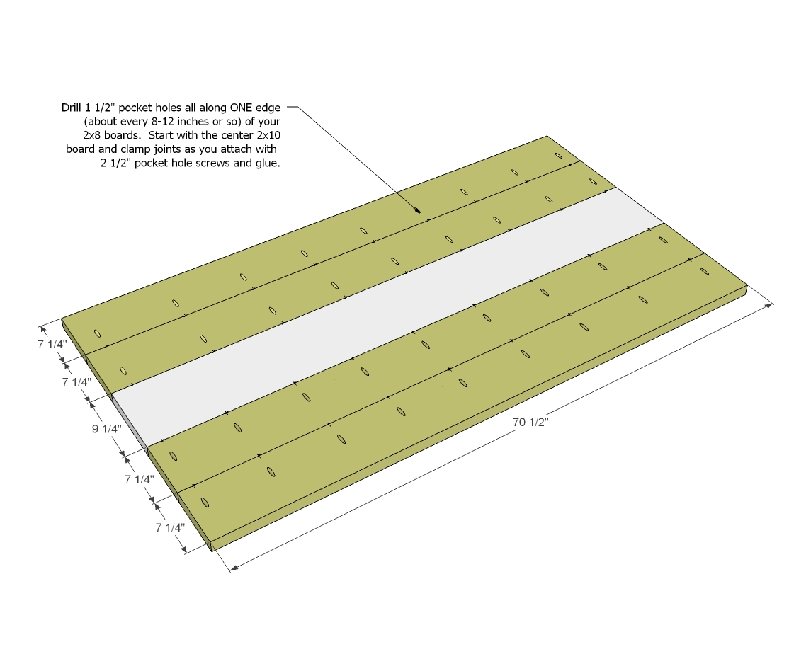 To Prevent Your Entire Tabletop From Cupping One Way Alternative The End Grain Of Boards
