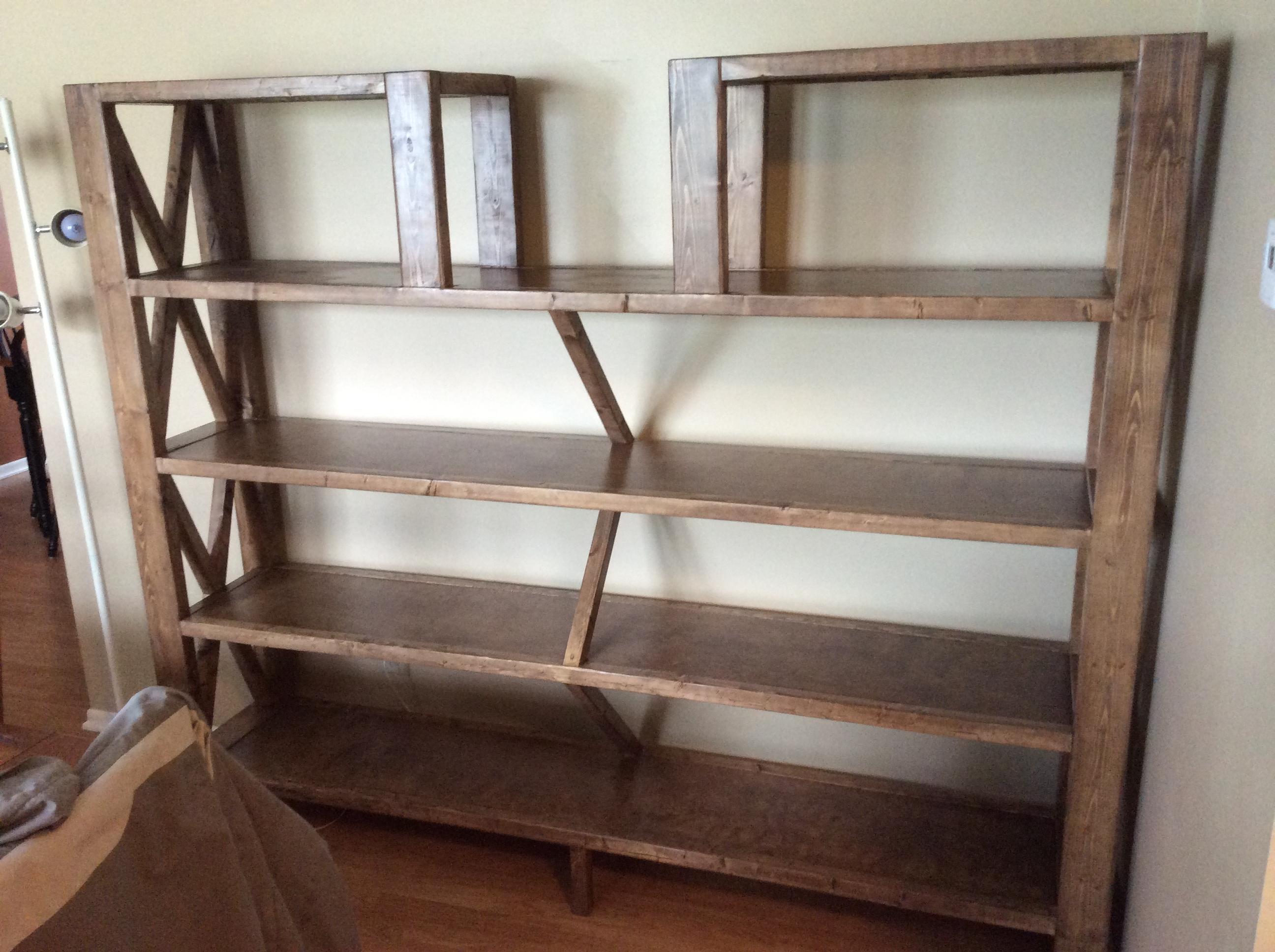 Rustic X Bookshelf
