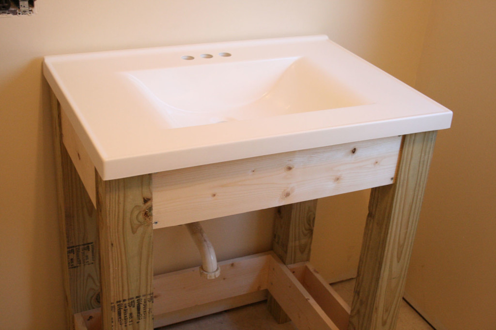 Ana White Farmhouse Style Vanity Base With Slatted Shelf