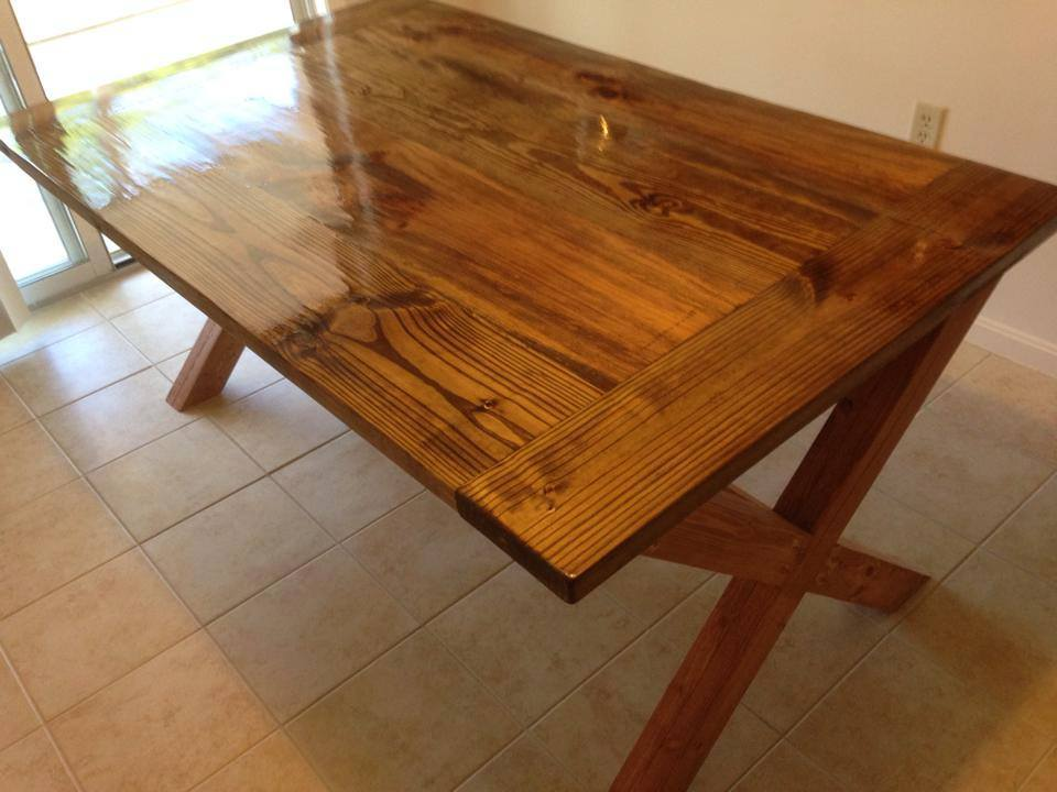 33 diy dining room tables easy to make polished cross legged table image credit ana white watchthetrailerfo