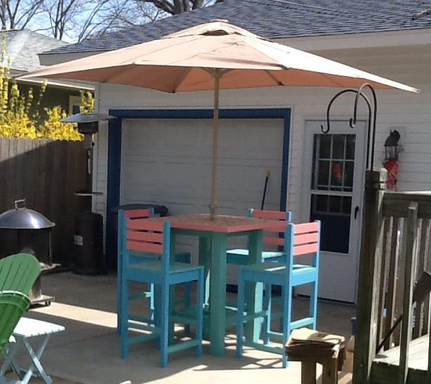 Ana White | Outdoor High Top Patio Set - DIY Projects