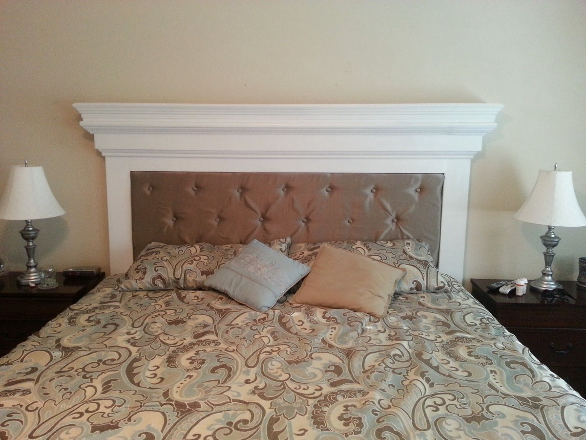 Ana white mantel headboard diy projects for Do it yourself headboard