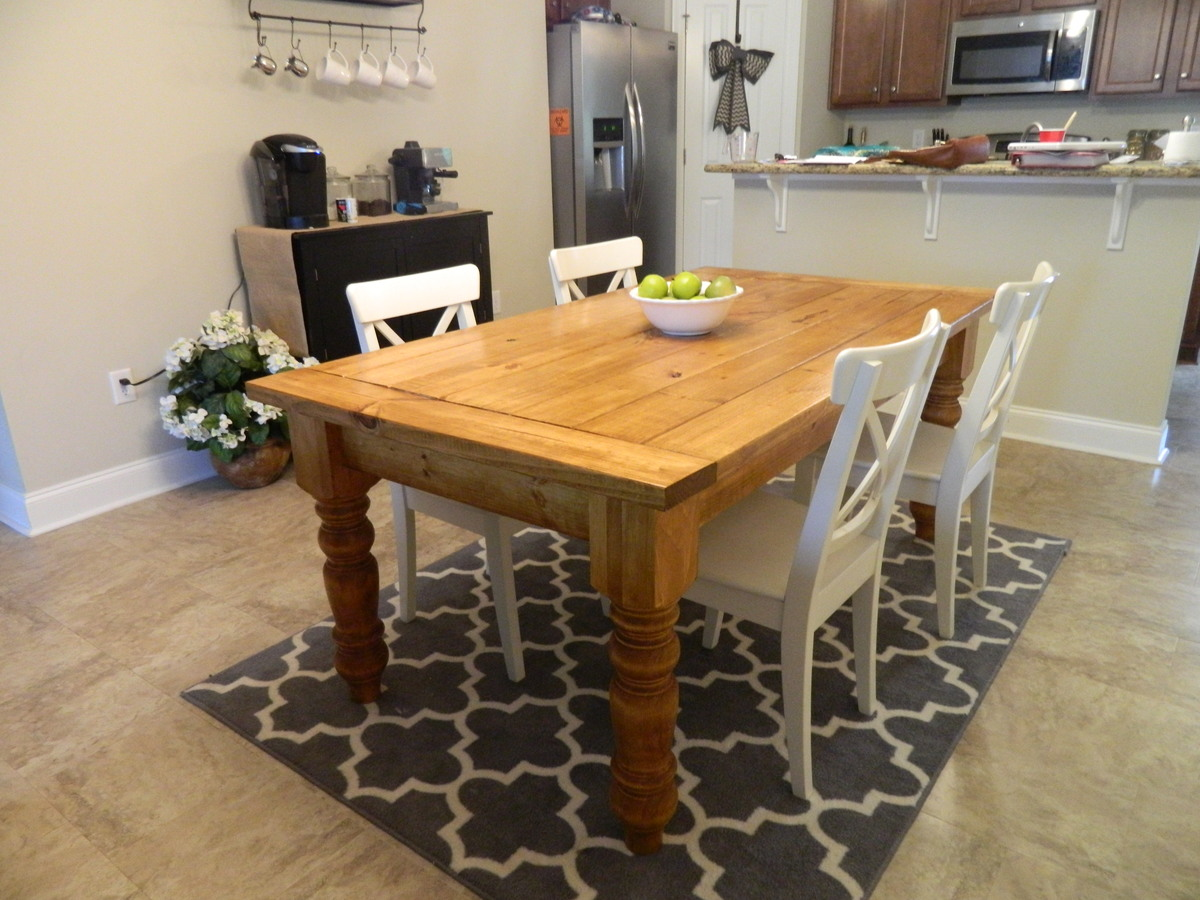 Ana White Husky Farmhouse Dining Table Diy Projects
