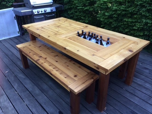 - Ana White Cedar Patio Table W Hidden Coolers - DIY Projects