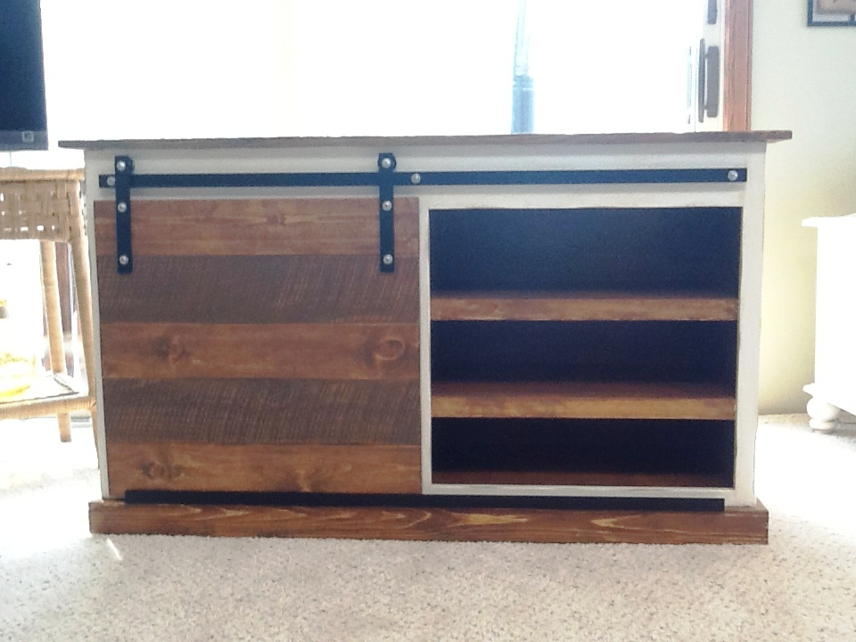 Ana White Sliding Door Tv Stand Diy Projects