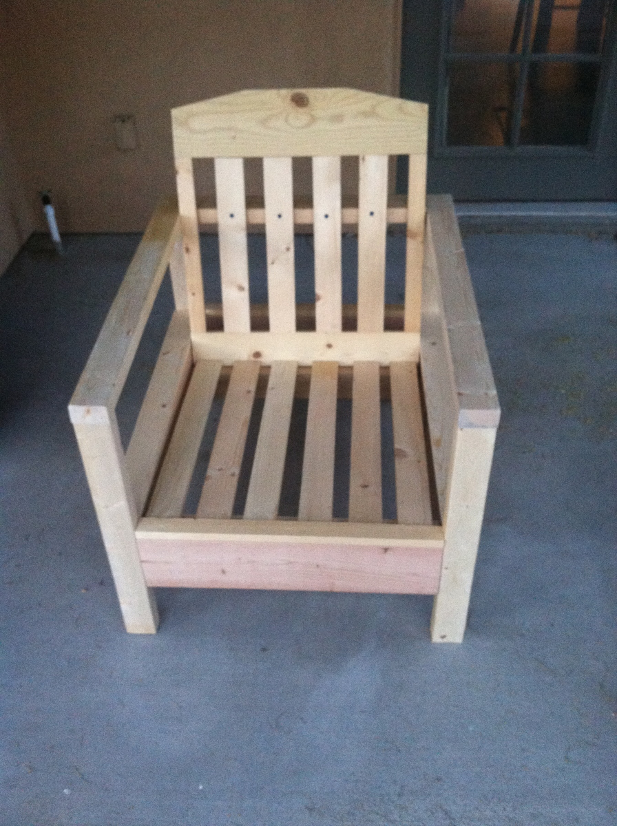 Ana White Simple White Outdoor Chair Diy Projects