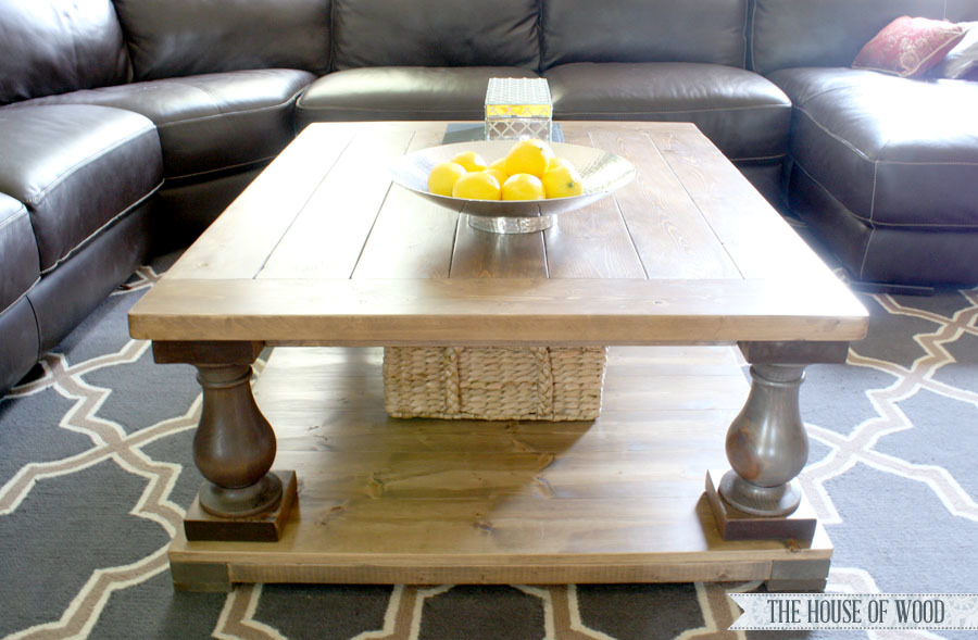 Ana White Square Ish Version Of The Balustrade Coffee Table Diy Projects