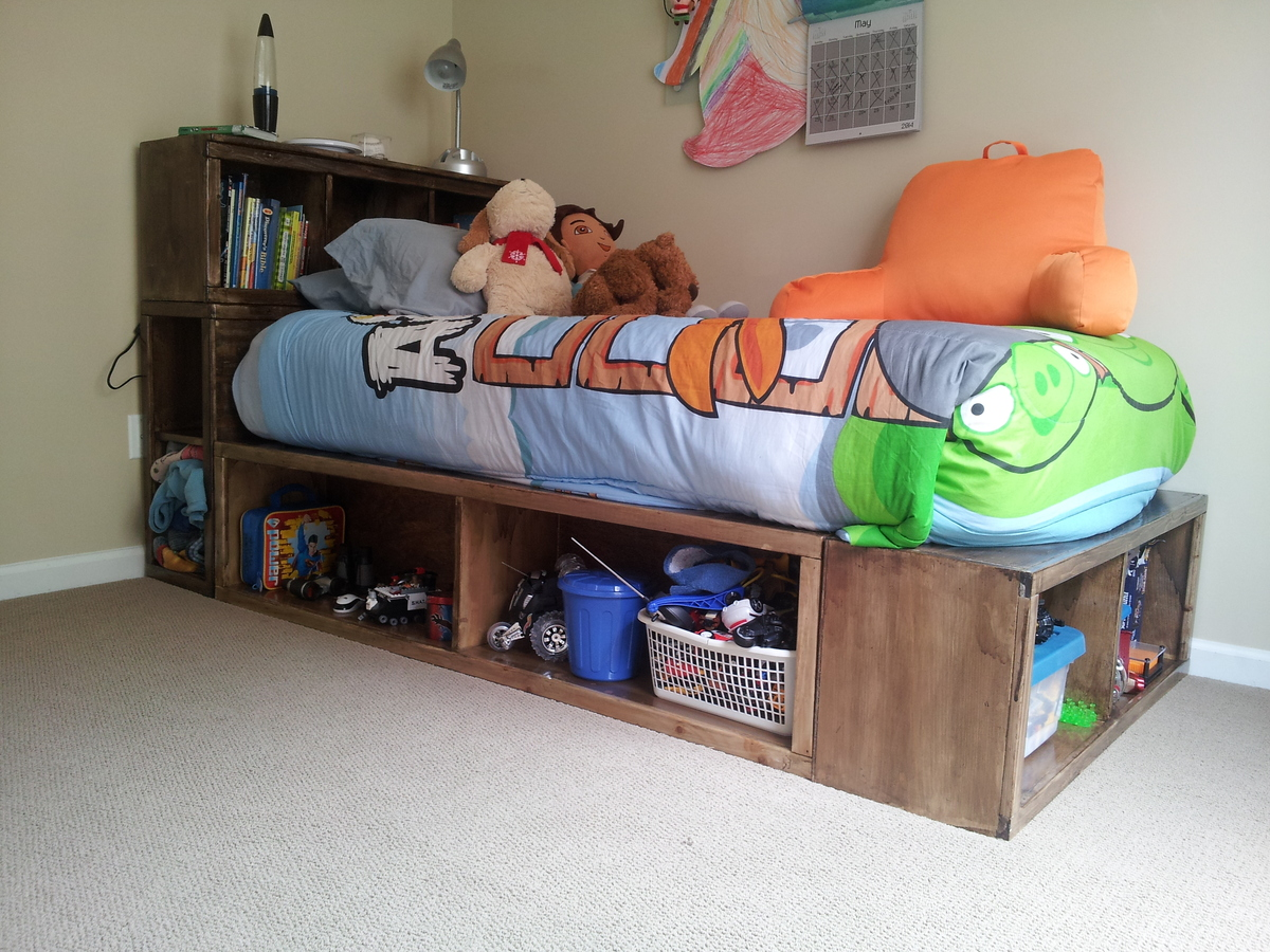 Twin Storage Captain Bed