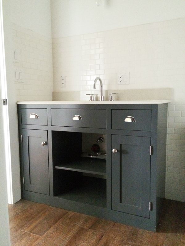 Bathroom Vanities Diy ana white | simple gray bath vanity - diy projects