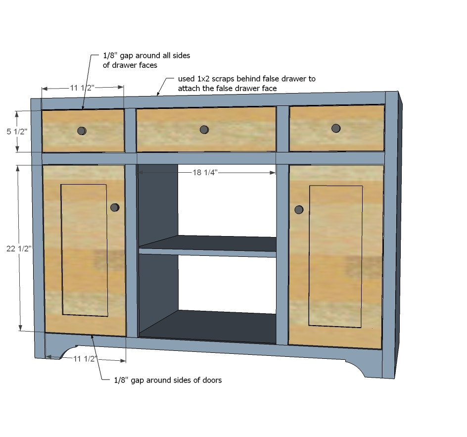 Diy bathroom vanity plans - Step 9 Instructions