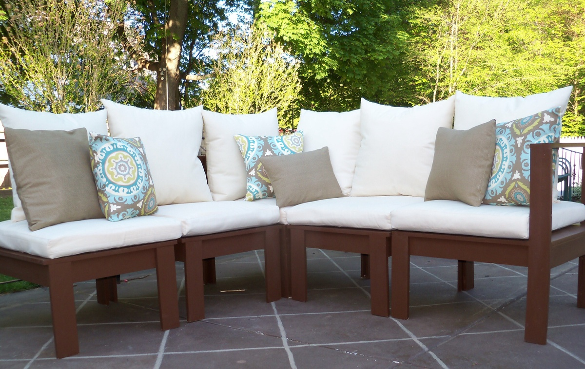 Ana White | Modern outdoor Sectional - DIY Projects