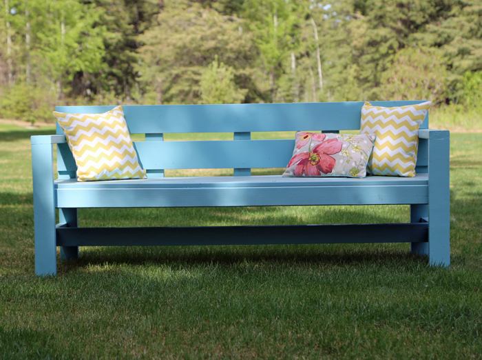modern outdoor bench plans from ana-white.com