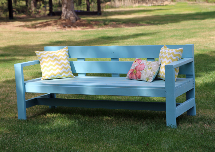 Ana White | Modern Park Bench - DIY Projects