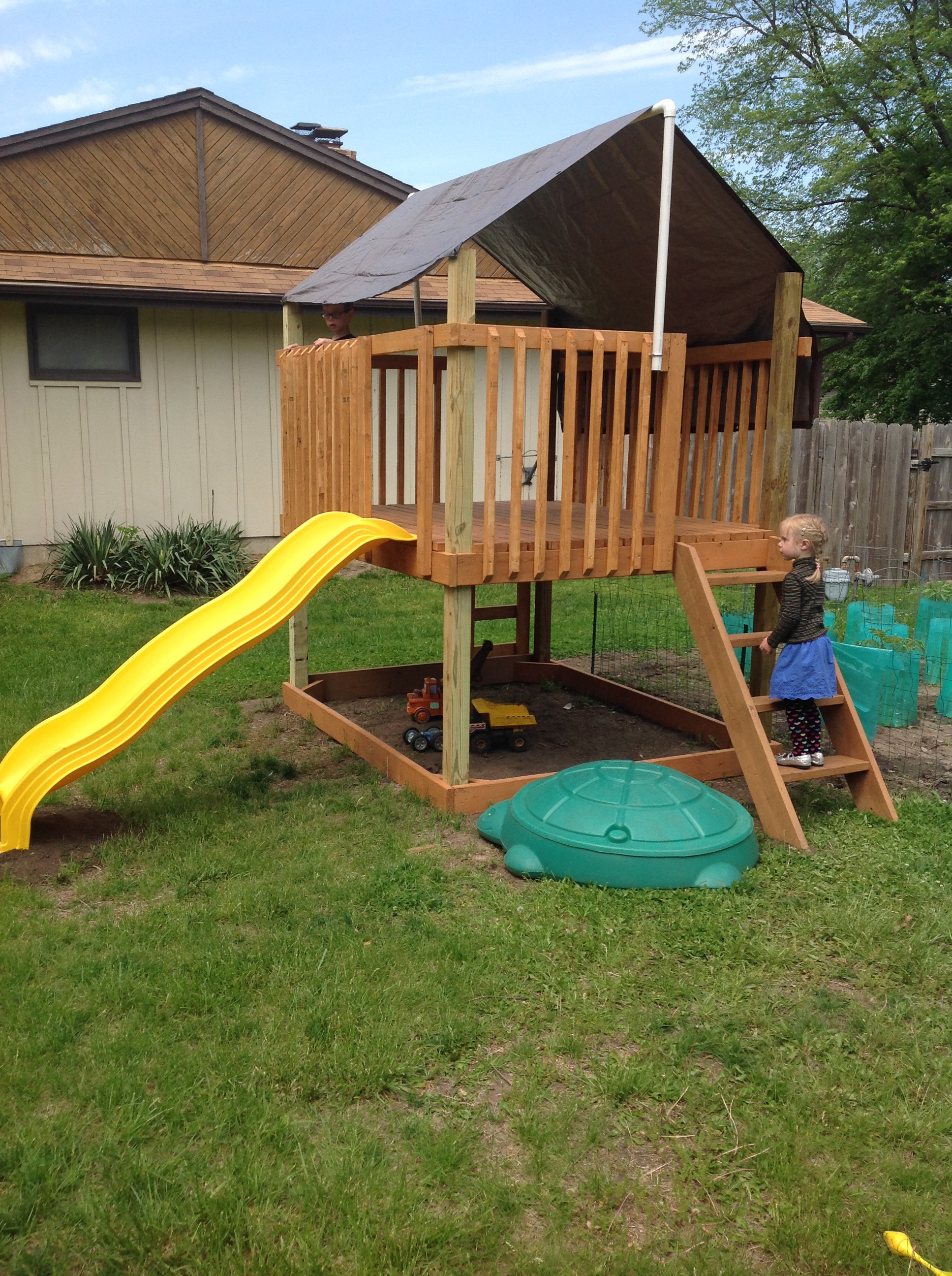 Ana white play deck fort diy projects for Diy play structure