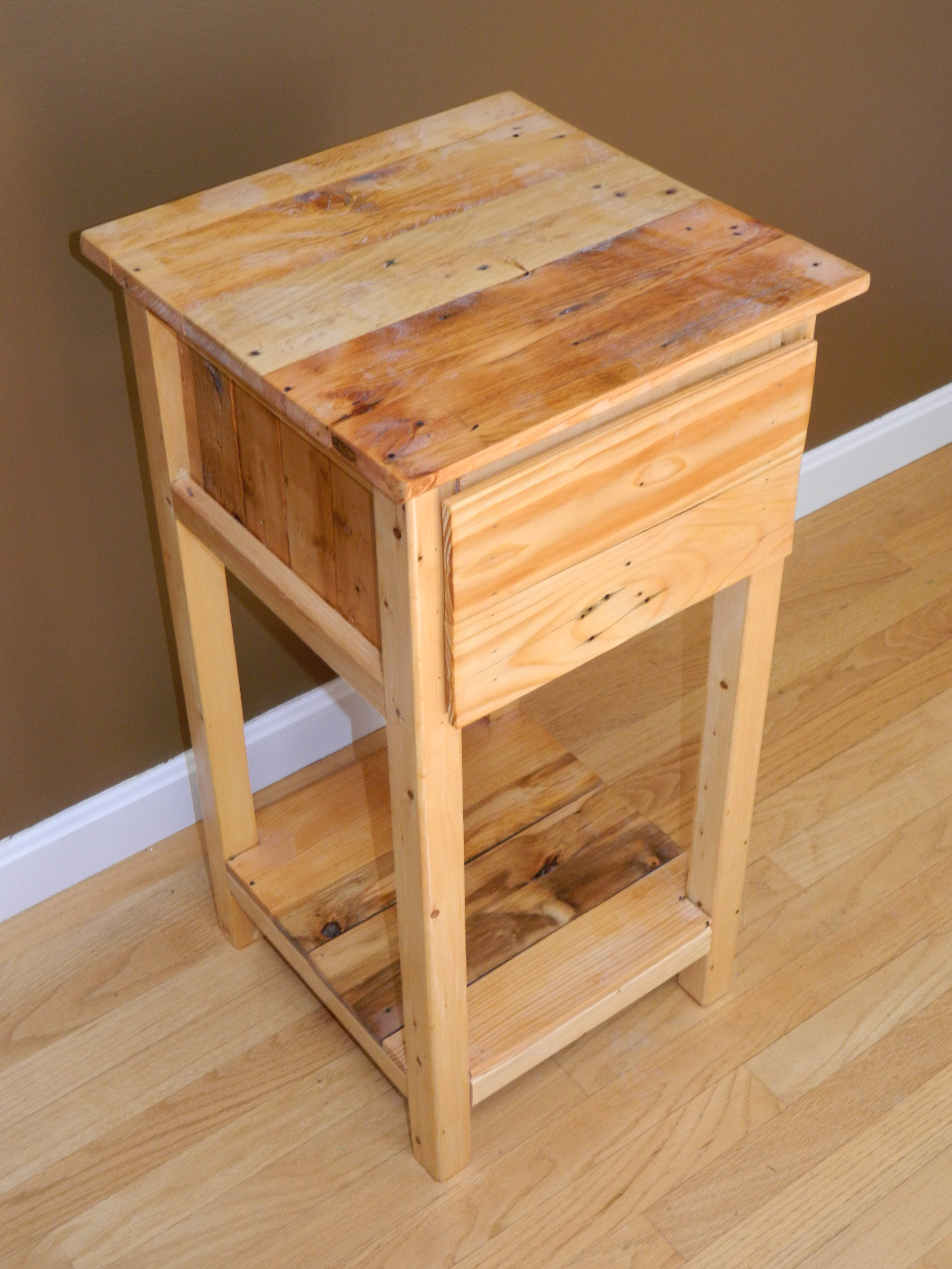 ana white | pallet nightstand - diy projects Easy Home Nightstand