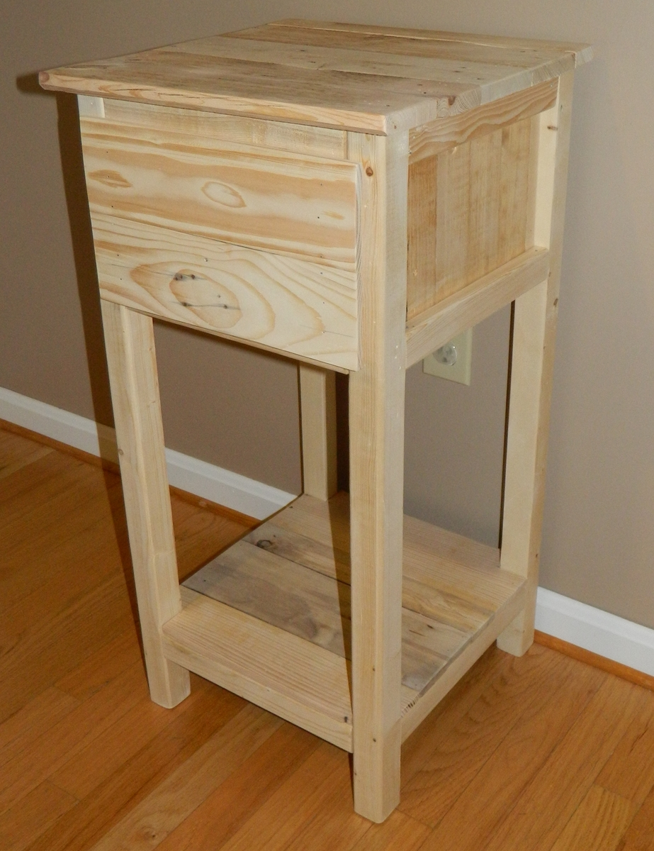 ana white | pallet nightstand - diy projects Night Stands Made from Pallets