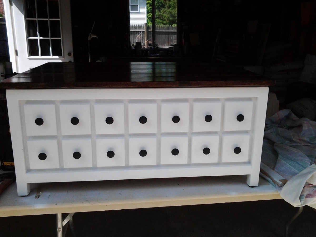 Ana White Apothecary Inspired Coffee Table Diy Projects