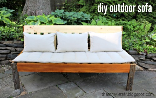 Ana white outdoor sofa diy projects for Ikea outdoor sofa