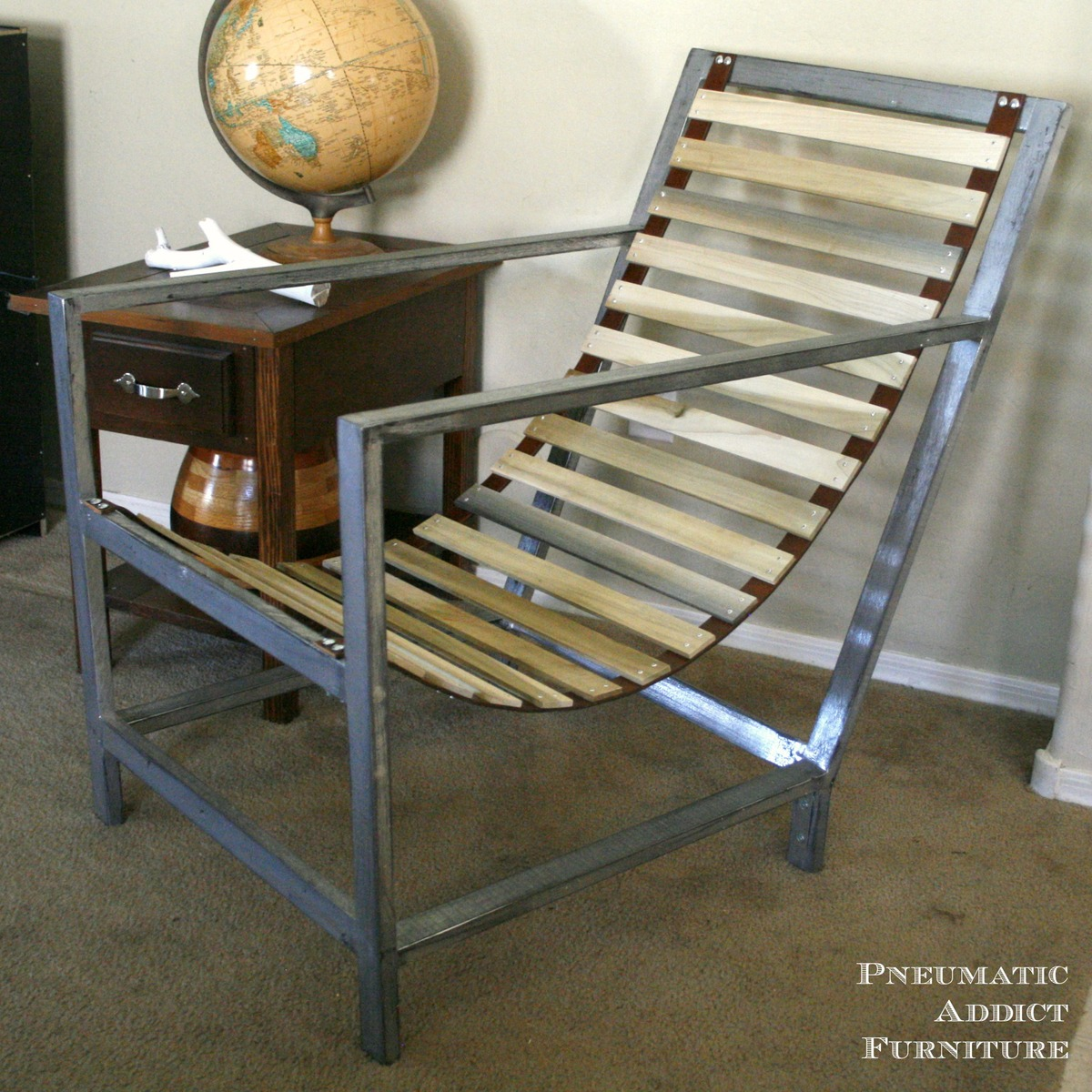 Ana White Wood And Leather Sling Chair Diy Projects
