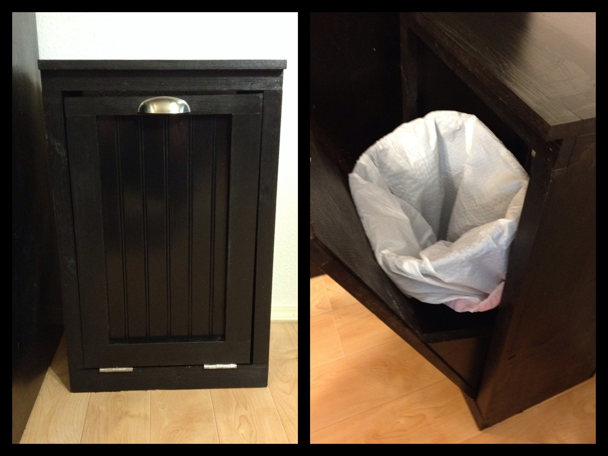 Ana White 5th Project Tilt Out Trash Can Diy Projects