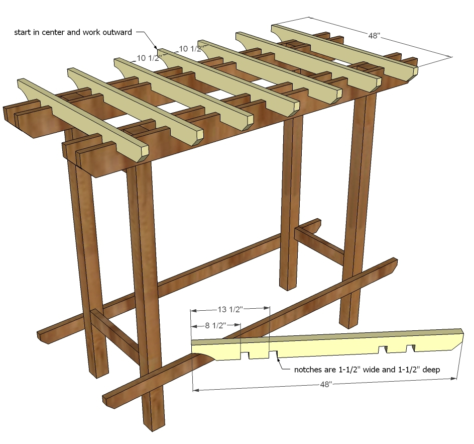 Ana white outdoor bench with arbor diy projects for Outdoor plans