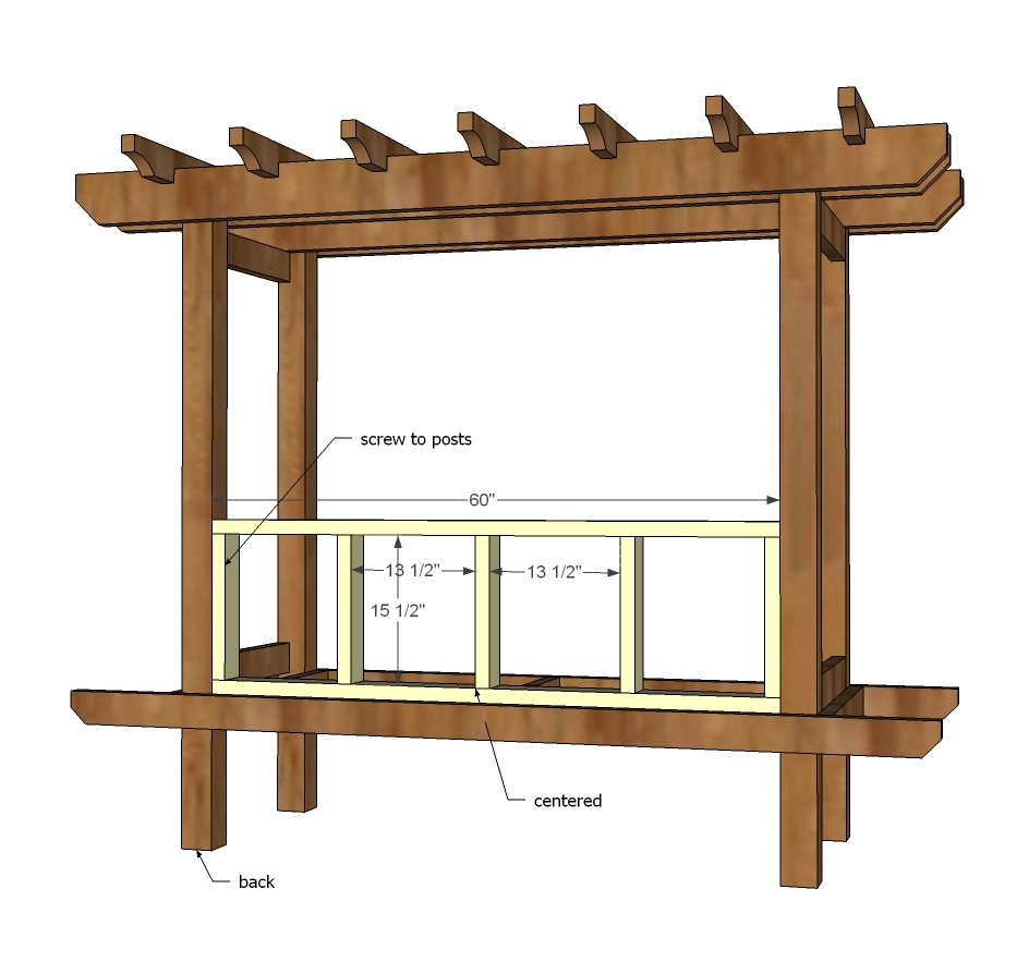 Ana White | Outdoor Bench with Arbor - DIY Projects