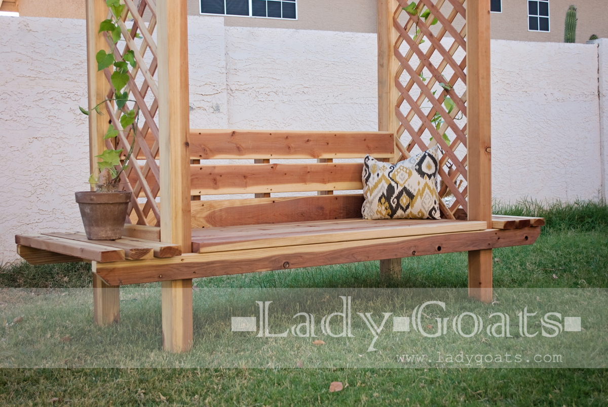 Marvelous Outdoor Bench With Arbor Ana White Bralicious Painted Fabric Chair Ideas Braliciousco