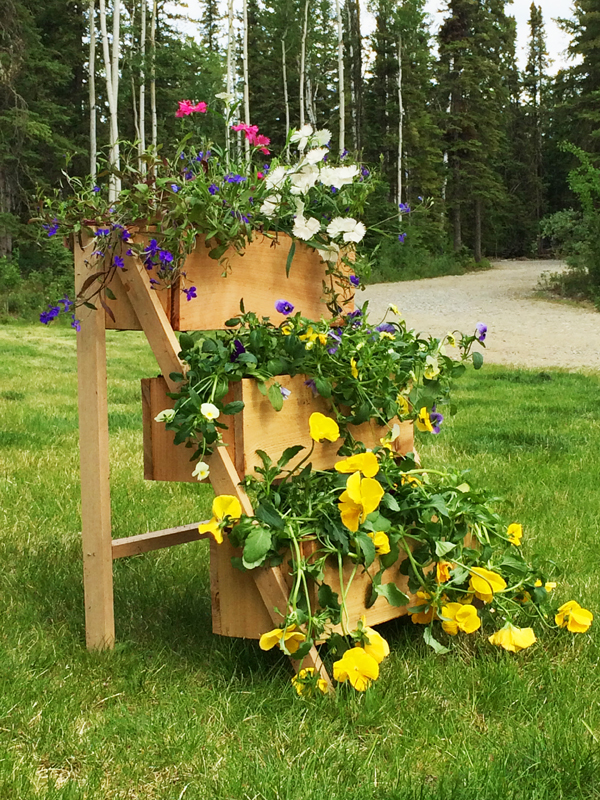 $10 Cedar Tiered Flower Planter Or Herb Garden