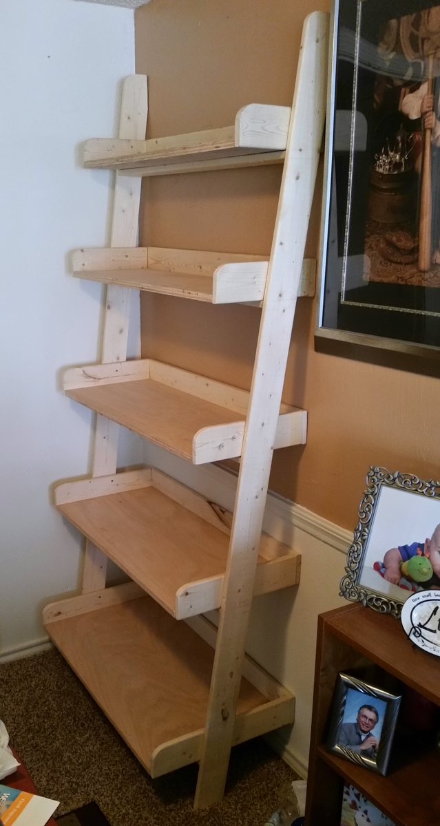 Ana White | Leaning Shelf - DIY Projects