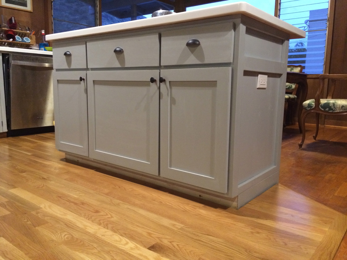 Ana white kitchen island diy projects for Kitchen cabinet with island design