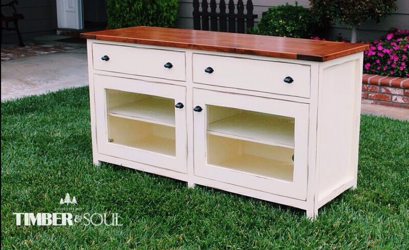 Ana White Pottery Barn Benchwright TV Stand DIY Projects - Pottery barn tv table