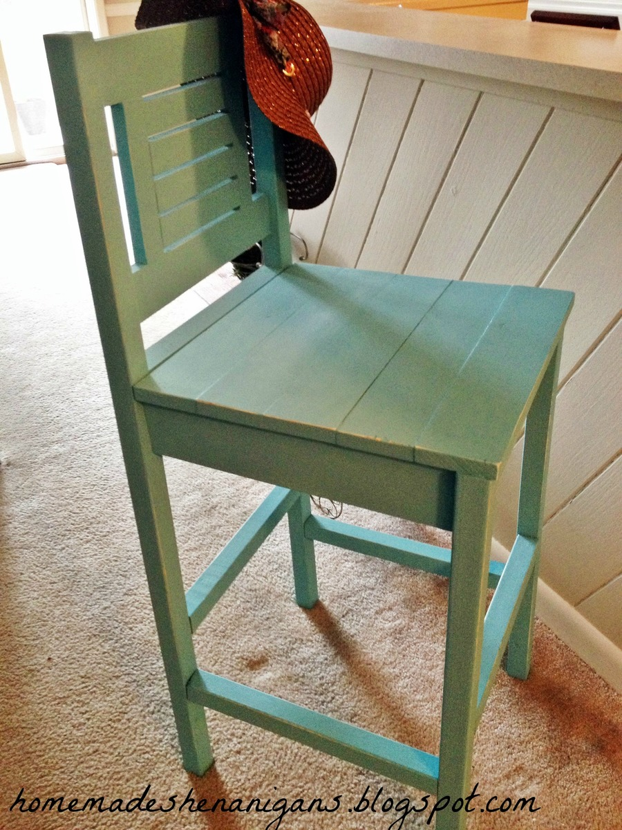 Ana White Turquoise Bar Stool Diy Projects