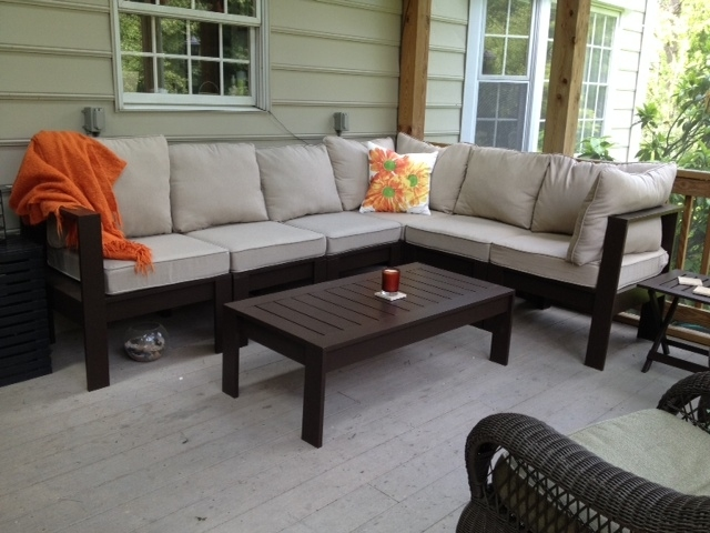 ana white outdoor sectional with coffee table diy projects