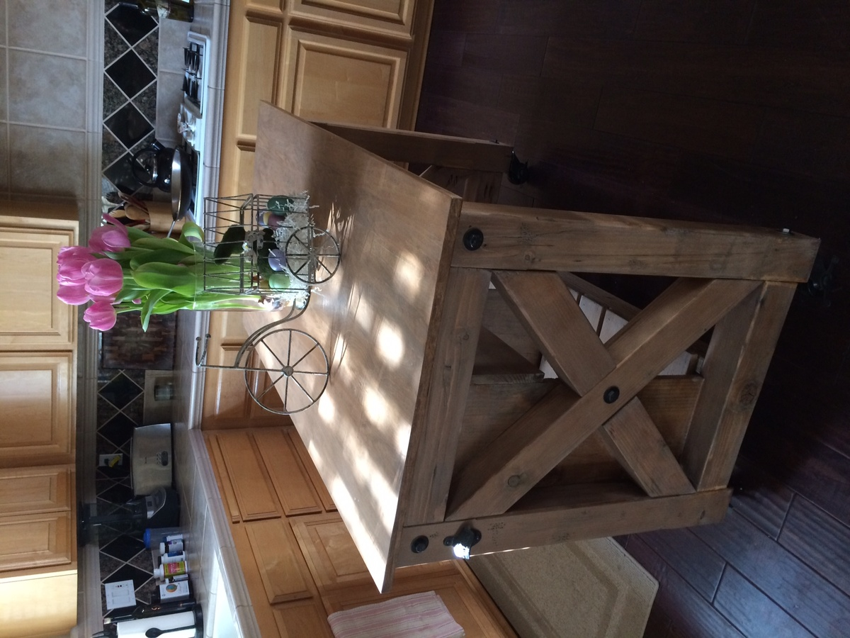 Ana White My Version Of The Rustic X Kitchen Island
