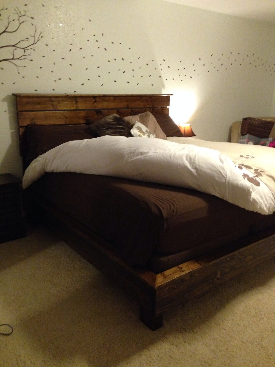 Ana White Modified Hailey Platform Bed King Diy Projects