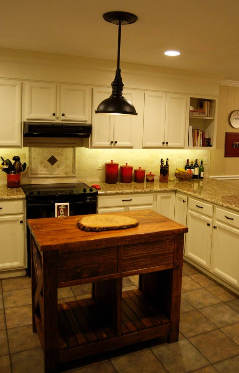 Ana White Modified Rustic X Kitchen Island Diy Projects