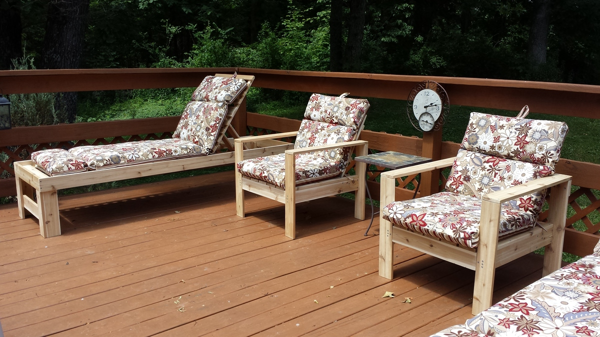 Ana white outdoor chaise lounge diy projects for Big lots chaise lounge