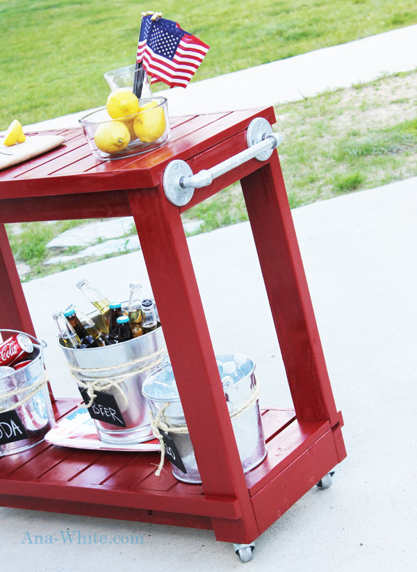 red bar cart decorative towel bar