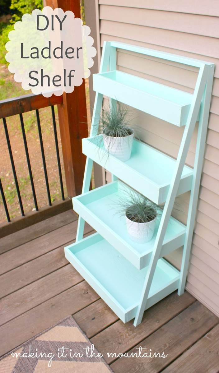 Ana White Diy Ladder Shelf Diy Projects