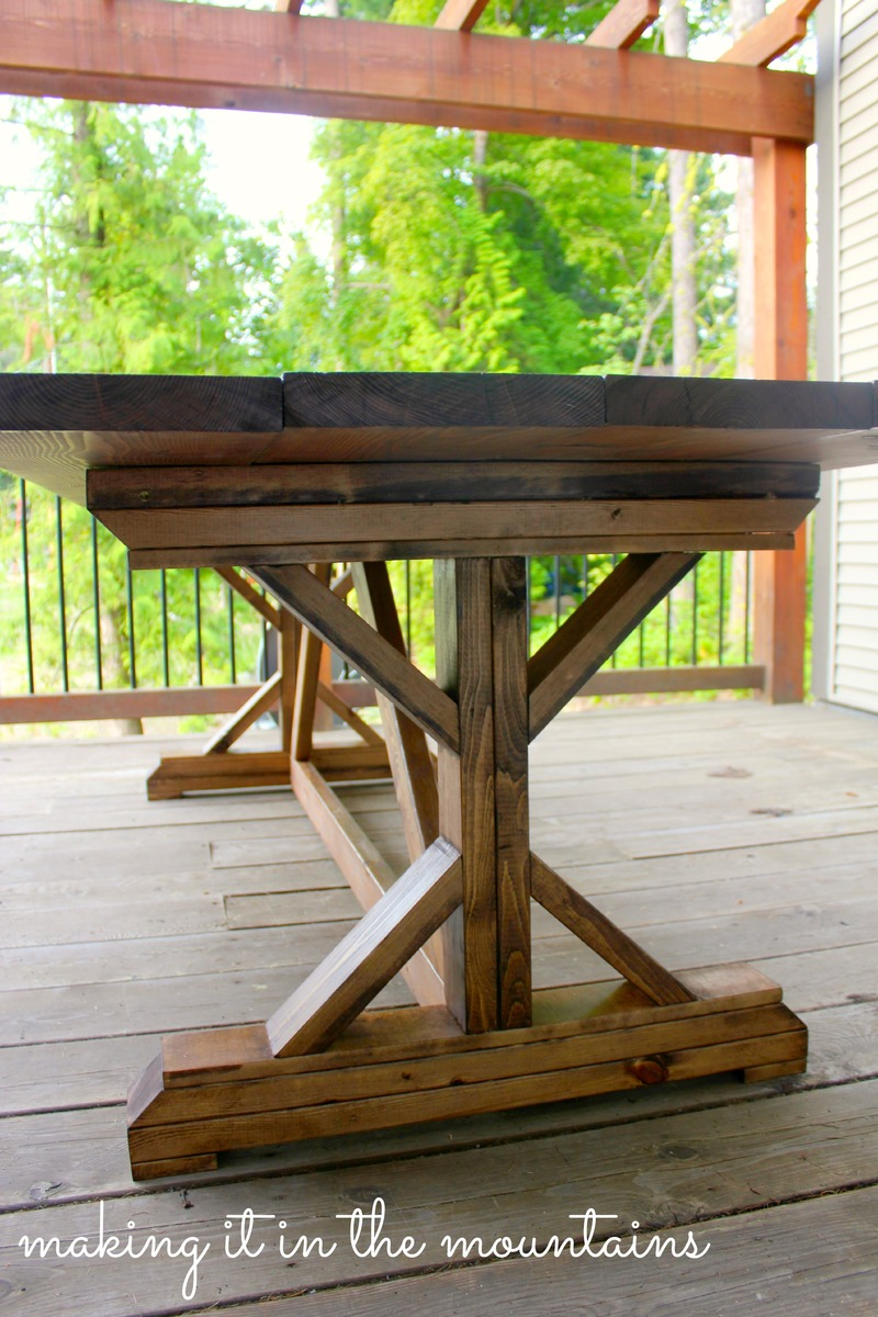 Ana White DIY Pottery Barn Inspired Table DIY Projects - Pottery barn picnic table